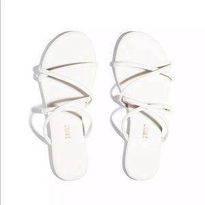TKEES Sloan Sandals Cream White Flip Flops 9